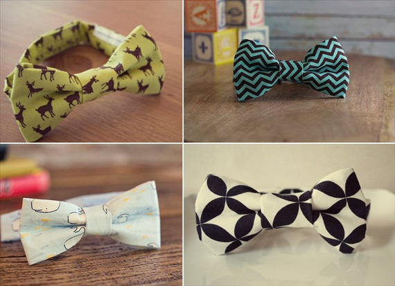patterned bow ties