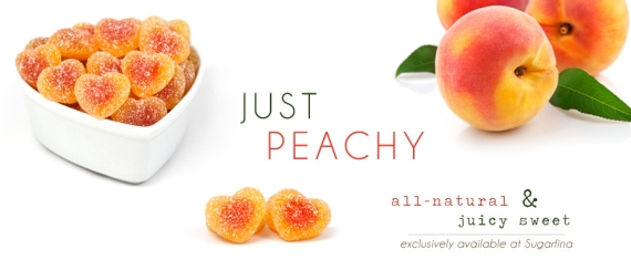 peach gummi hearts via best wedding resources