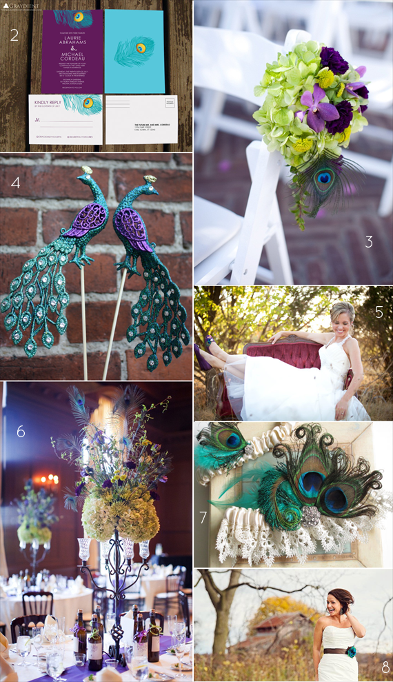 25+ Stylish Peacock Themed Wedding Ideas