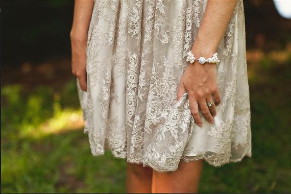 pearl rhinestone bracelet