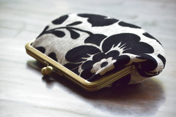 personalize clutch black and white exterior