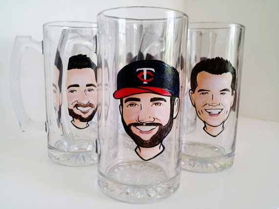 personalized beer glasses groomsmen gifts - Top Groomsmen Gift Ideas for 2014