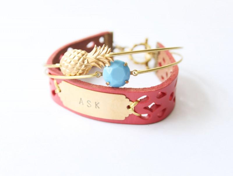personalized bridesmaid bangle bracelets | https://emmalinebride.com/gifts/bridesmaid-bangle-bracelets/