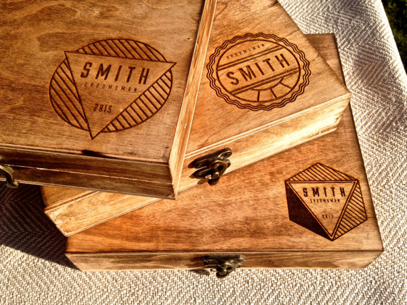 personalized cigar box groomsmen gift