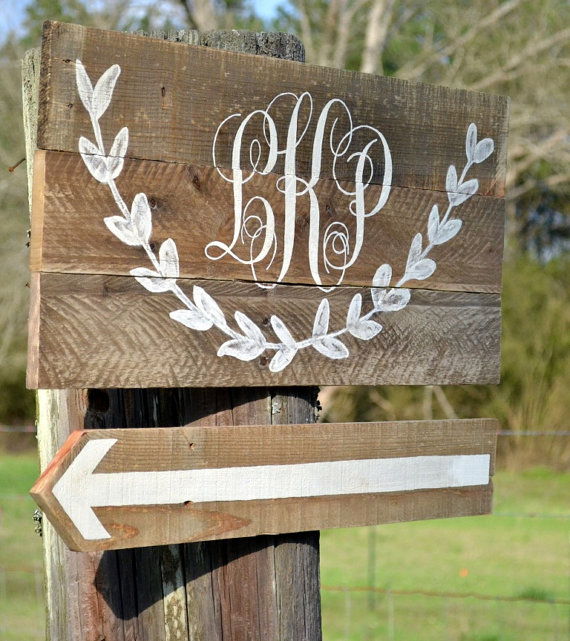 8 Clever Ways to Personalize Your Wedding (sign: country bliss designs)