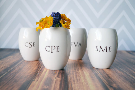 personalized vase | bridesmaid gift ideas https://emmalinebride.com/gifts/bridesmaid-gift-ideas/
