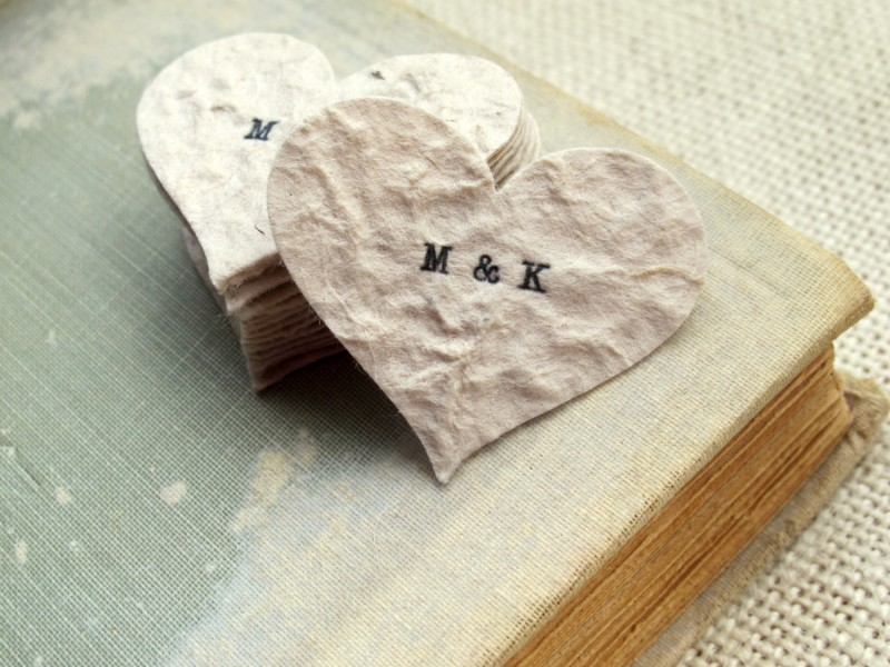 personalized wedding confetti rustic chic by JoBlake | rustic chic wedding ideas
