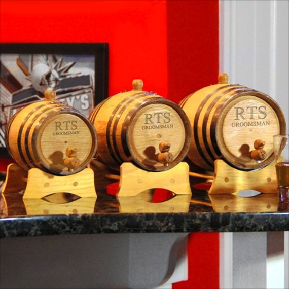 personalized whiskey barrels groomsmen gifts