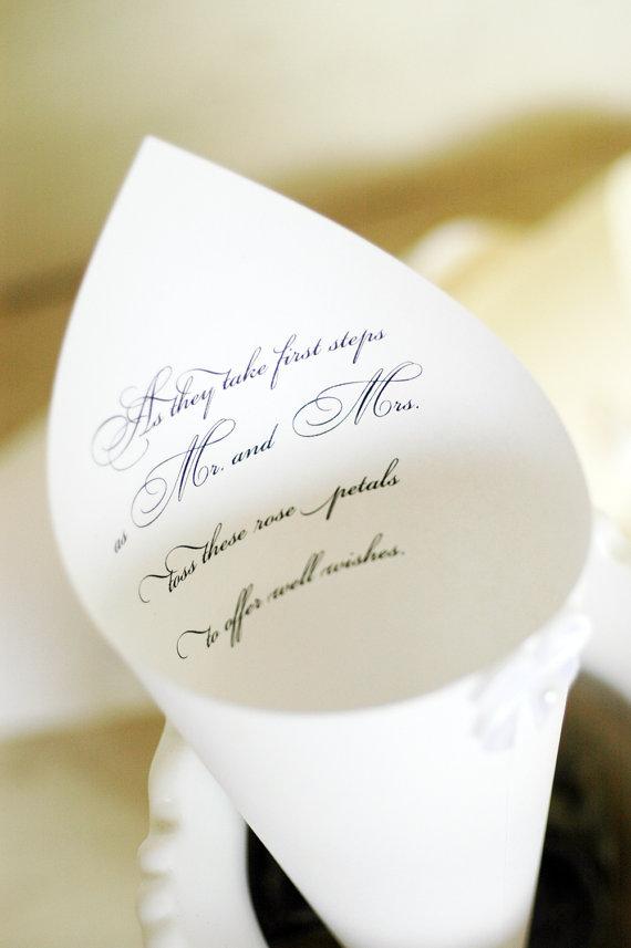 Ceremony Exit Ideas: Petal Cones (by White Thistle Boutique)