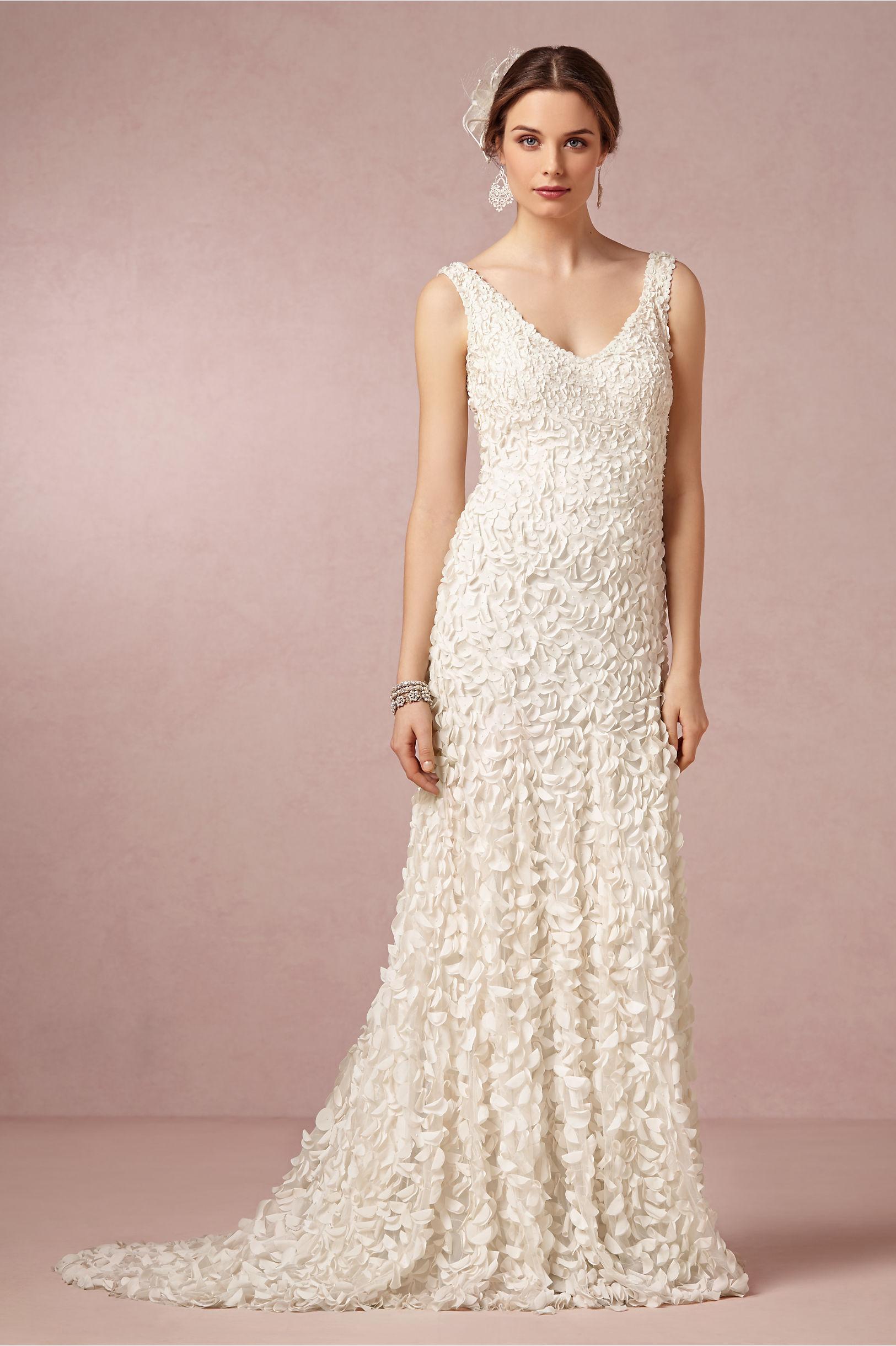 ivory petal wedding dress