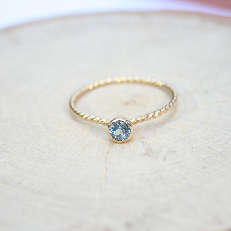 petite blue gemstone engagement ring