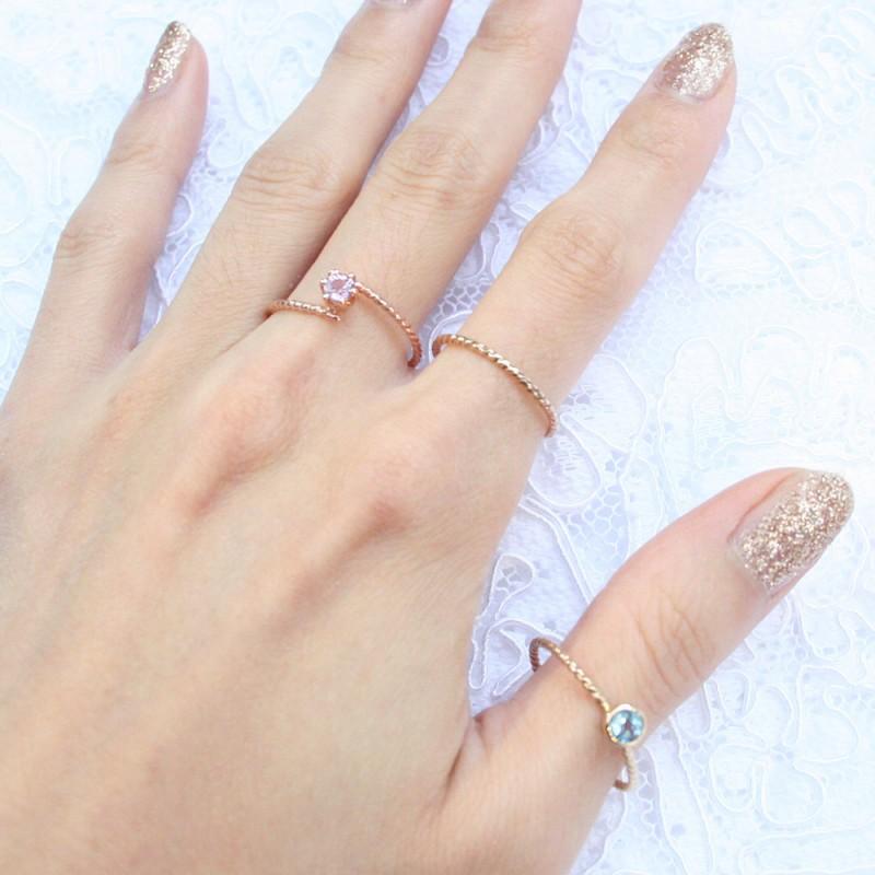 petite gemstone ring