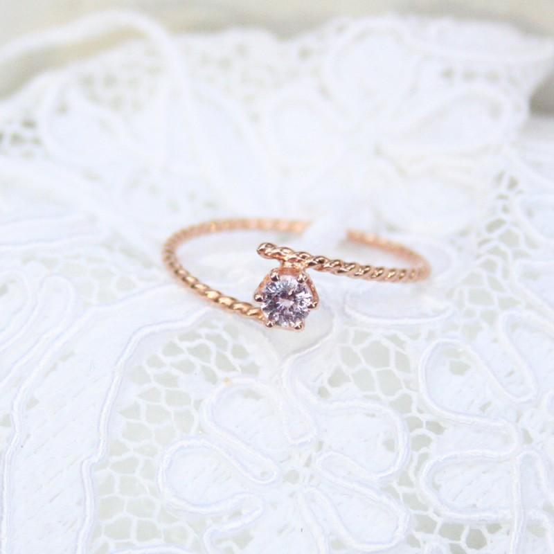petite purple gemstone ring