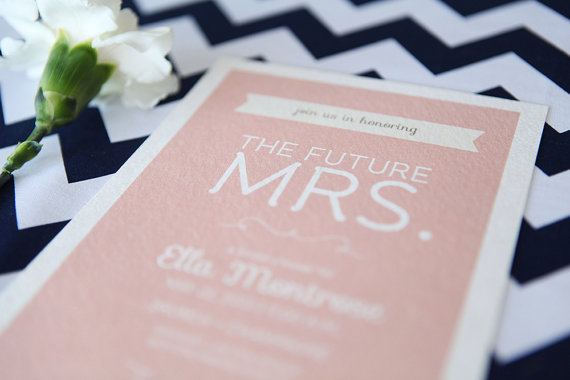 Planning a Bridal Shower? Get Inspired! (via EmmalineBride.com) - invitation by vallarina creative