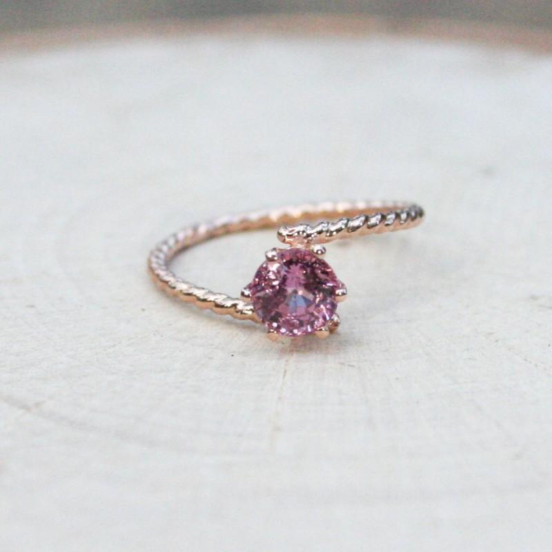 pink petite gemstone ring