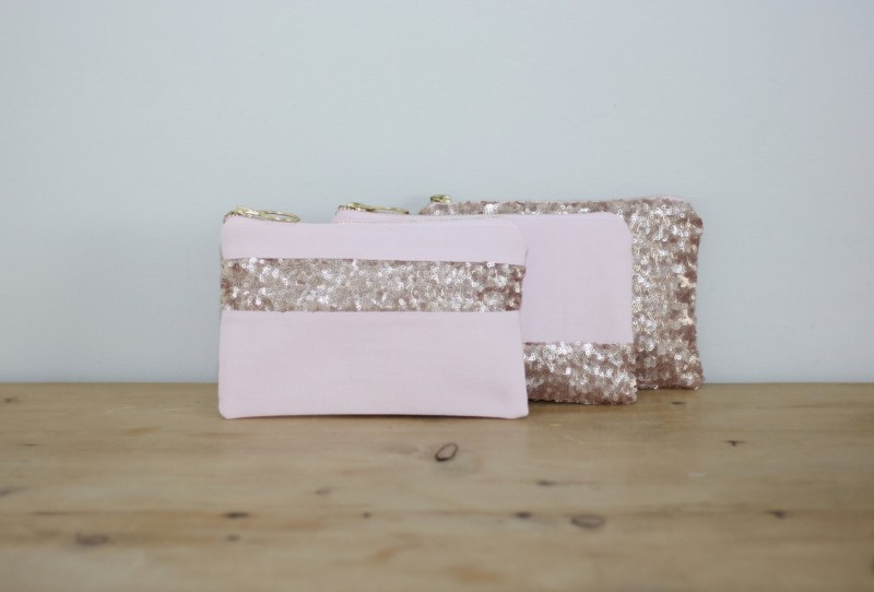 pink sequin clutch purse