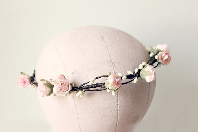 light pink - spring wedding crowns | via https://emmalinebride.com/bride/spring-wedding-crowns/