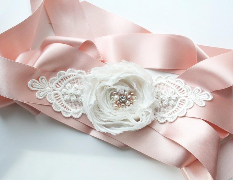 pink wedding dress sash | NEW Wedding Dress Sash Ideas via http://emmalinebride.com/bride/wedding-dress-sash-ideas/