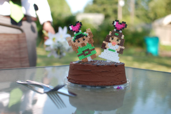 Unique Cake Toppers - pixelated cake topper