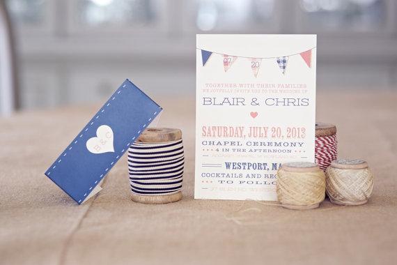 plaid wedding invitations