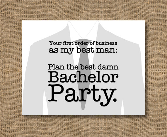 plan my bachelor party card | Funny Groomsmen Cards He'll Actually Want to