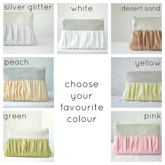 pleated clutch purse pick your color