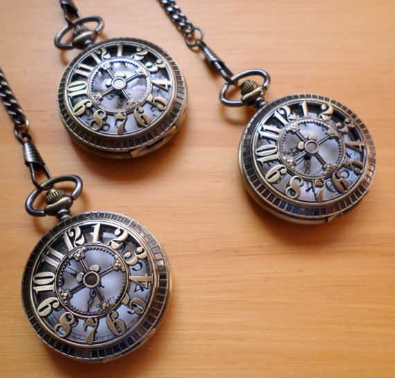 Wedding Gift Ideas for Groomsmen (pocketwatch:  pocketwatch emporium)