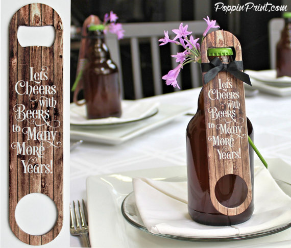 bottle opener favors by poppin print | via favor ideas weddings https://emmalinebride.com/favors/favor-ideas-weddings/