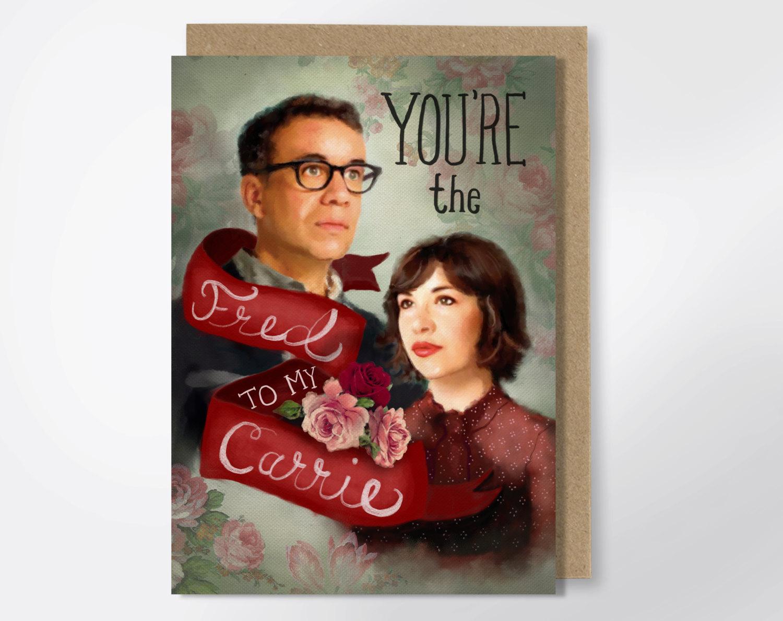 portlandia valentines day card drunk girl designs - via funny valentine cards etsy from EmmalineBride.com