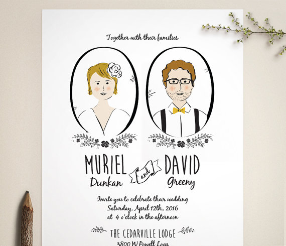 Portrait Wedding Invites