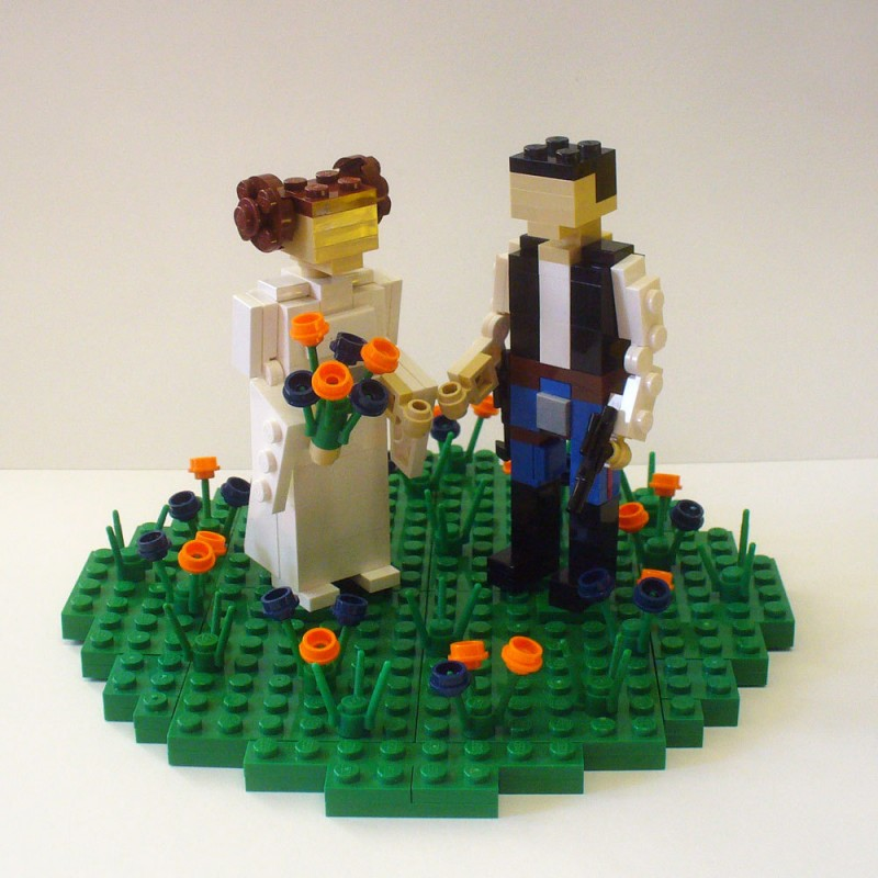 lego wedding cake toppers - princess leia