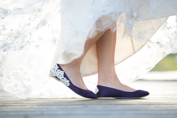 purple wedding flats