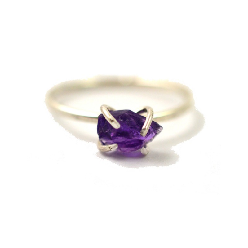 raw amethyst ring by aquarian thoughts