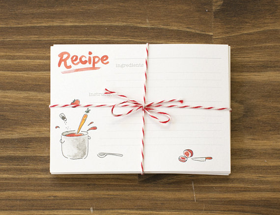 recipe cards with tomatoes by betsy ann paper