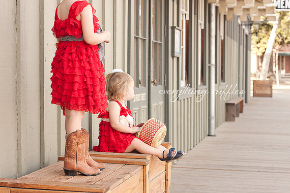 ruffle flower girl dresses