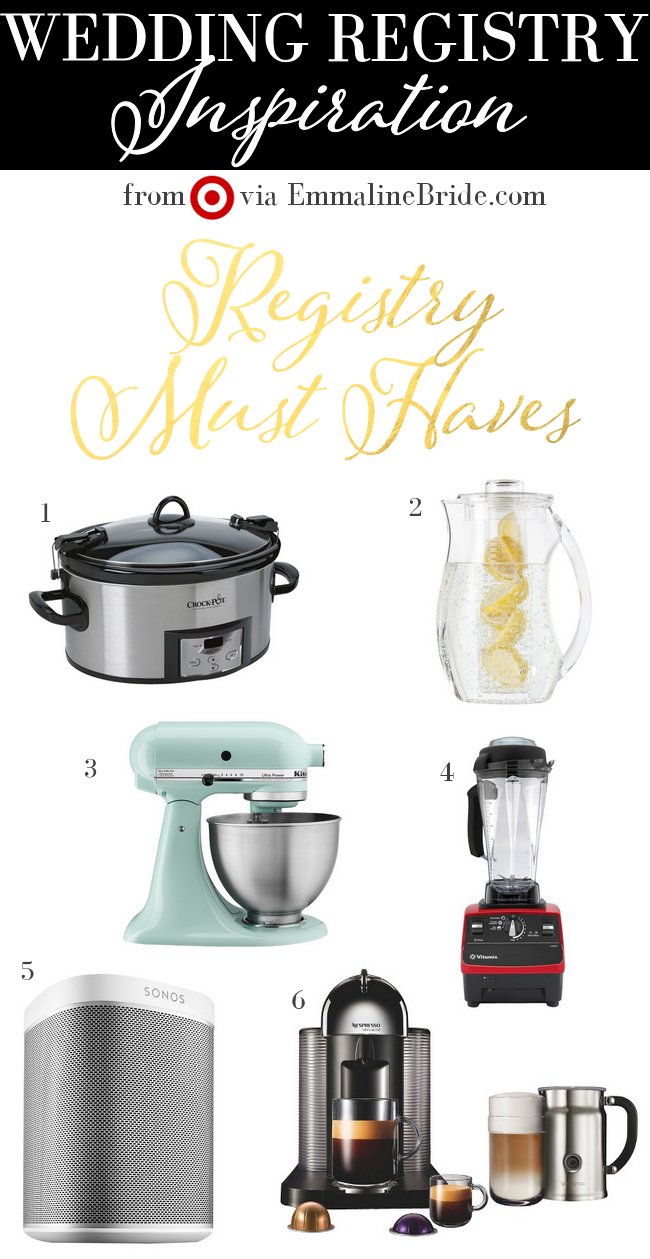 Registry from Target:  Must-Haves / Top Picks for your Wedding Registry | http://emmalinebride.com/gifts/registry-from-target/