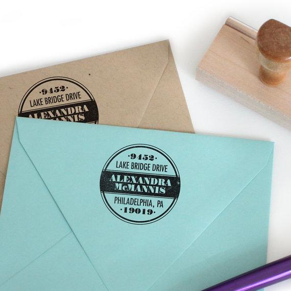 return address stamp paint can design