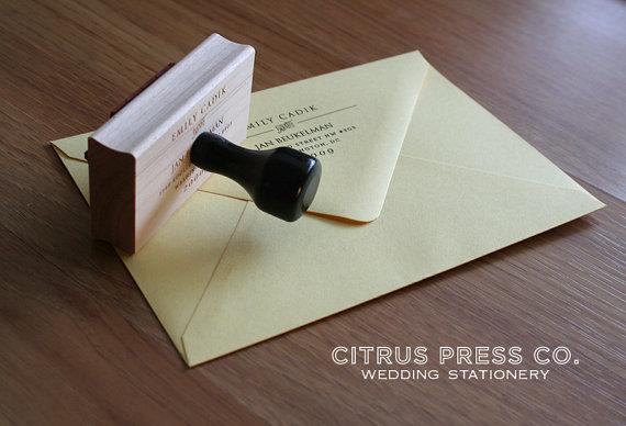 return address stamp (by citrus press)