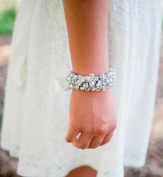 rhinestone bracelet for the bride