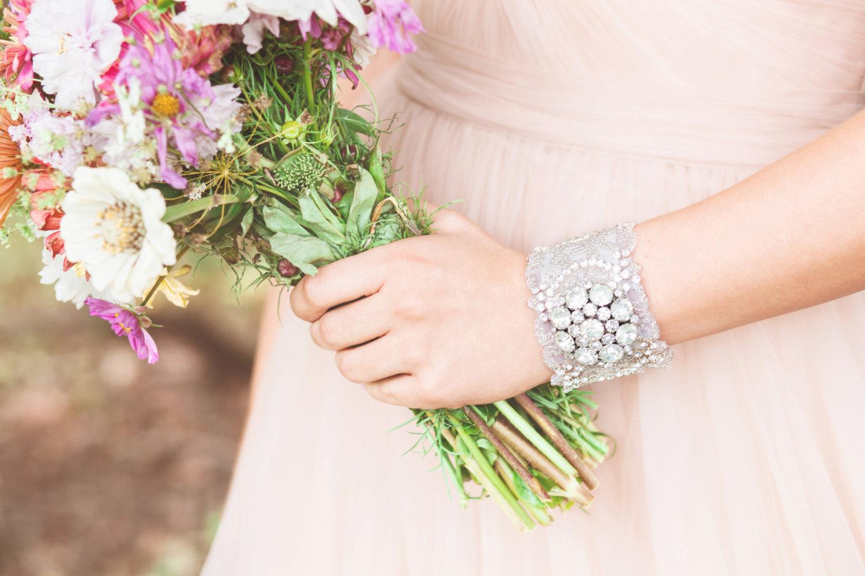 rhinestone bridal bracelet by cloe noel, photo by la candella weddings