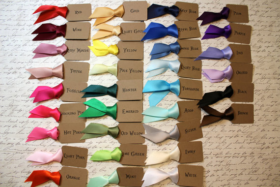 Ribbon Choices - Flower Seed Favors for Weddings (by Mother + Daughter Creations)