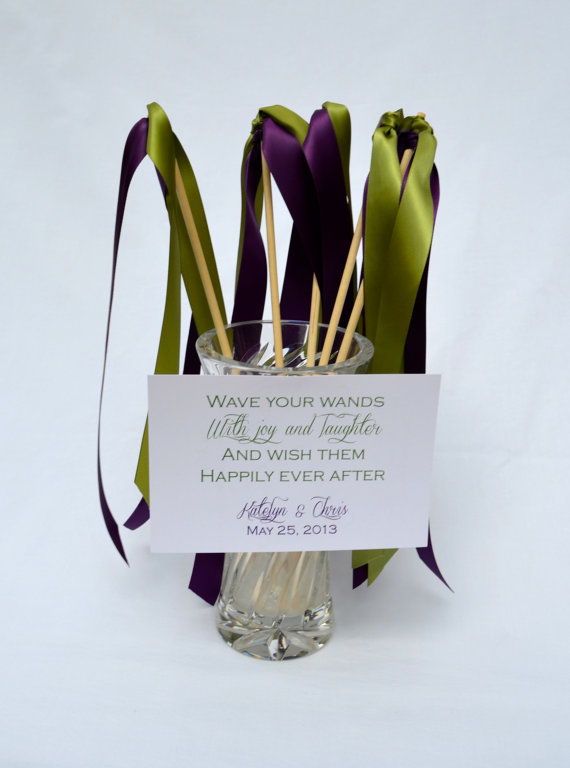 Ceremony Exit Ideas: Ribbon Wands (by Wedding Designer)