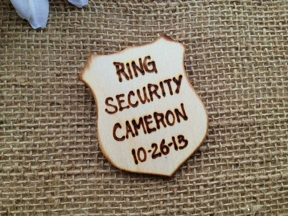 ring bearer badges - ring security