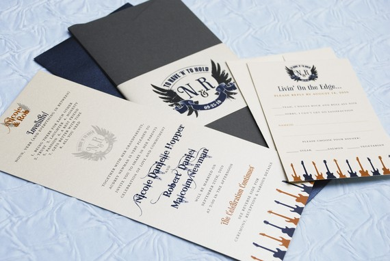 rock n roll guitar wedding invitations - 5 Creative Wedding Invitation Styles