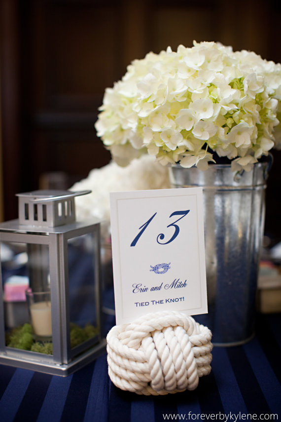 7 Unique Table Number Holders - rope by karen's wedding shop