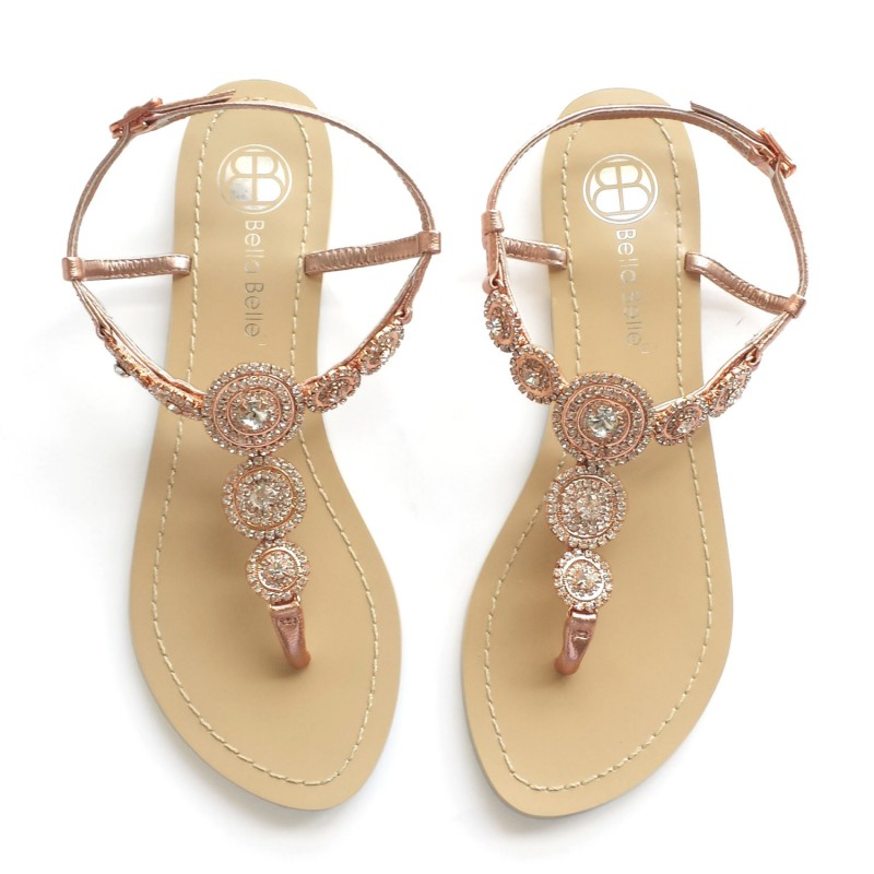 rose gold wedding sandals | Rose Gold Wedding Ideas via http://emmalinebride.com/planning/rose-gold-wedding-ideas/