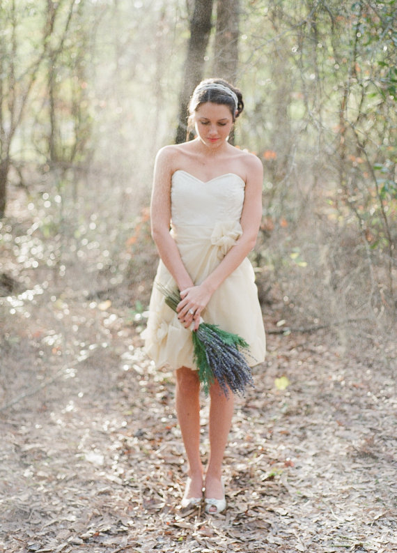 rosette wedding dress