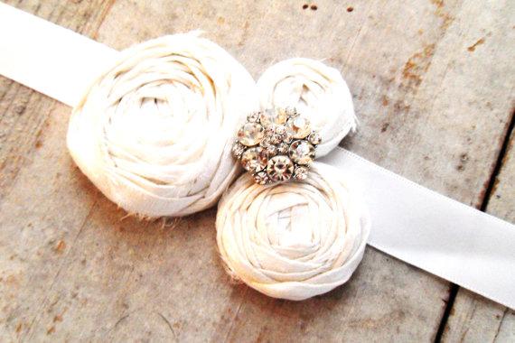 rosette wedding sash