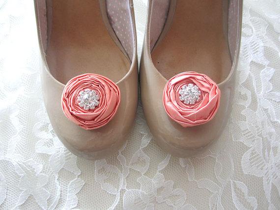 rosette wedding shoe clips