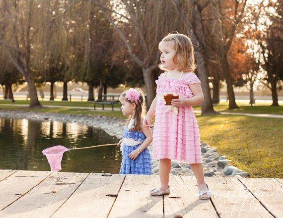 ruffle flower girl dress pink
